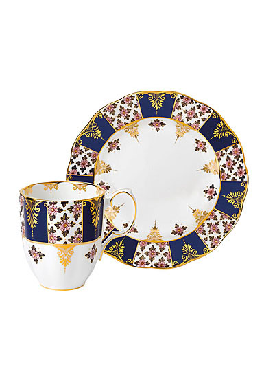 Royal Albert 100 Years 1900 2-Piece Set Mug and Plate Regency Blue