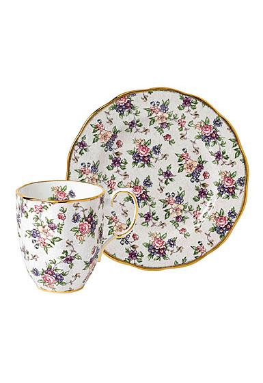 Royal Albert 100 Years 1940 2-Piece Set Mug and Plate English Chintz