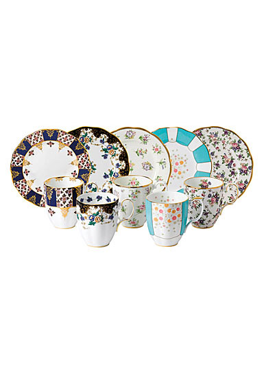 Royal Albert 100 Years 1900-1940 10-Piece Set Mug and Plate