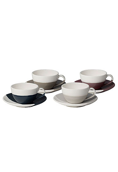 Royal Doulton Coffee Studio Flat White Cup and Saucer Set of 4