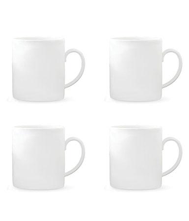 Vera Wang Wedgwood Vera Perfect White Mug 15oz. Set, 4