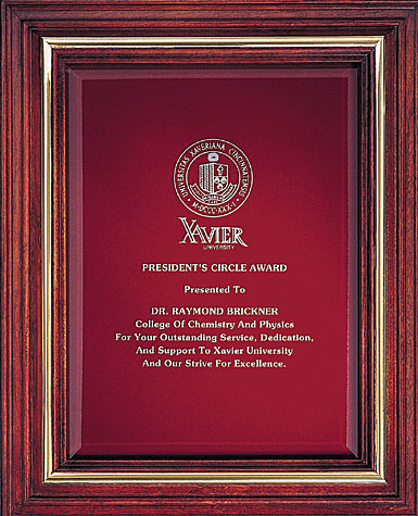 Crystal Blanc, Personalize! Cherry Award Plaque, Large