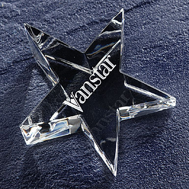 Crystal Blanc, Personalize! Star Crystal Paperweight