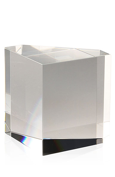 Steuben Desk Accessory, Tall Rainbow Crystal