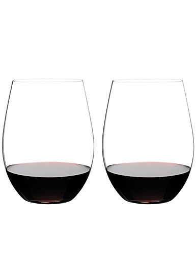 Riedel Big O Stemless, Cabernet Crystal Wine Glasses, Pair