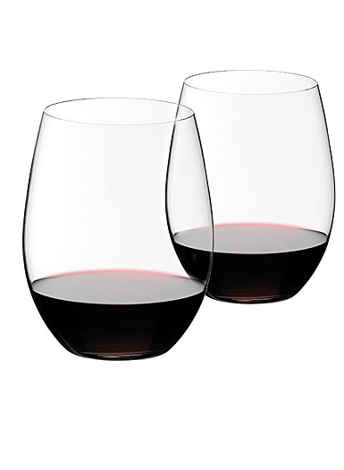 Riedel O Stemless, Cabernet, Merlot Crystal Wine Glasses, Pair