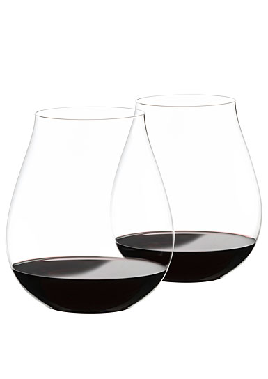 Riedel O Big O Pinot Noir Stemless Wine Glasses, Pair