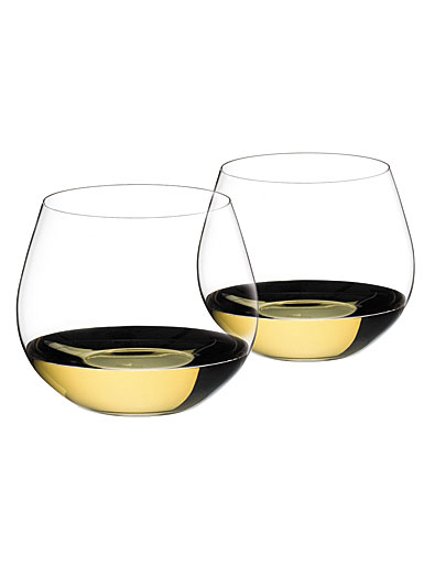 Riedel O Stemless, Chardonnay, Montrachet Wine Glasses, Pair