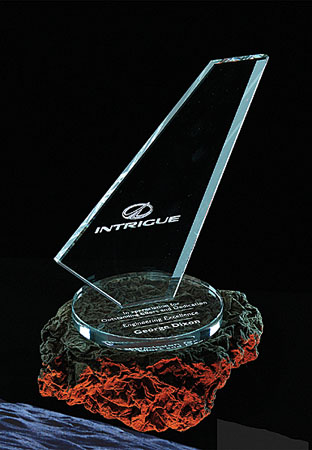 "Crystal Blanc, Personalize! 7"" Clipper Award"