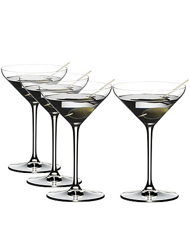 Riedel Crystal Extreme Martini Value Gift Set, Buy 3 glasses Get 4