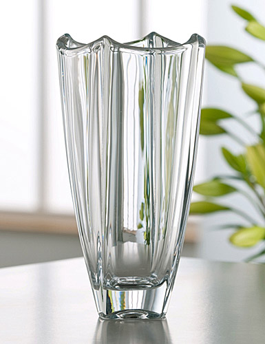 "Galway Crystal Dune Square 10"" Vase"