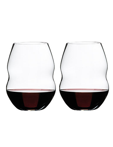 Riedel Swirl, Red Wine Glasses Crystal Wine Glasses, Pair
