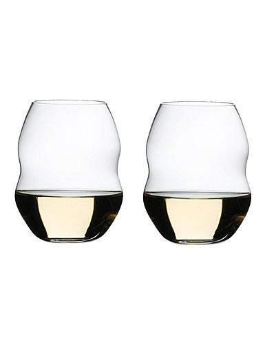 Riedel Swirl, White Wine Glasses Crystal Wine Glasses, Pair