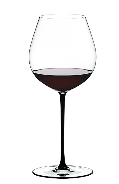 Riedel Fatto A Mano, Old World Pinot Noir Crystal Wine Glass, Black