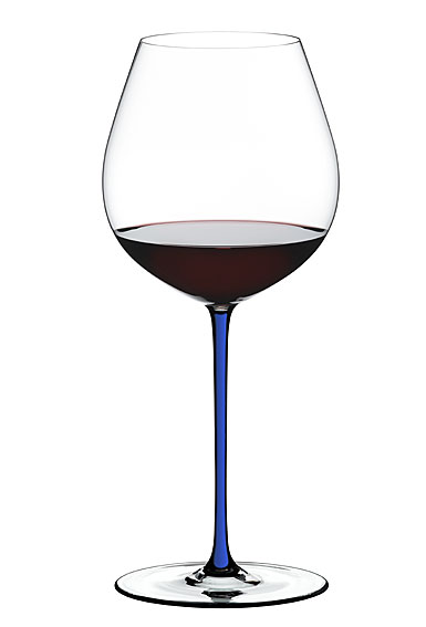 Riedel Fatto A Mano, Old World Pinot Noir Crystal Wine Glass, Blue