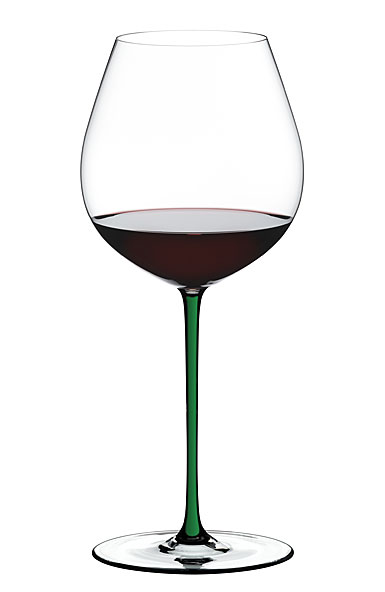 Riedel Fatto A Mano, Old World Pinot Noir Crystal Wine Glass, Green