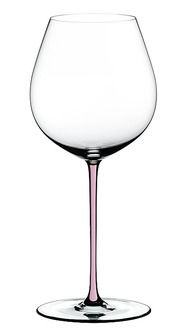 Riedel Fatto A Mano Old World Pinot Noir Crystal Wine Glass, Pink