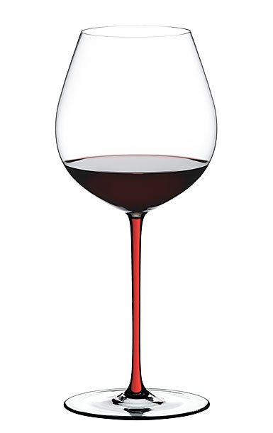 Riedel Fatto A Mano, Old World Pinot Noir Crystal Wine Glass, Red
