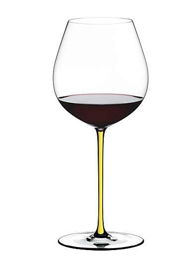 Riedel Fatto A Mano, Old World Pinot Noir Crystal Wine Glass, Yellow