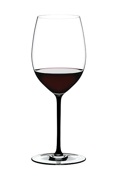 Riedel Fatto A Mano, Cabernet, Merlot Crystal Wine Glass, Black