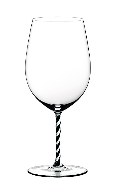Riedel Fatto A Mano, Cabernet, Merlot, Black and White Twist Crystal Wine Glass
