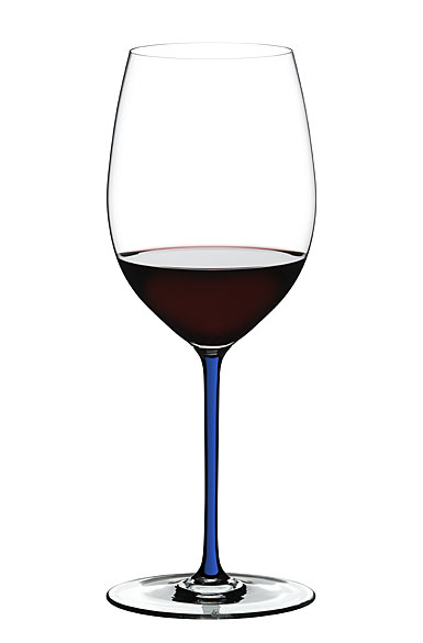 Riedel Fatto A Mano, Cabernet, Merlot Crystal Wine Glass, Lapis Lazule Blue