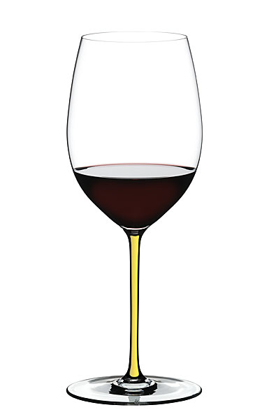 Riedel Fatto A Mano, Cabernet, Merlot Crystal Wine Glass, Yellow