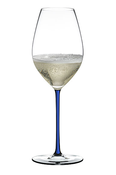 Riedel Fatto A Mano, Champagne Crystal Glass, Blue