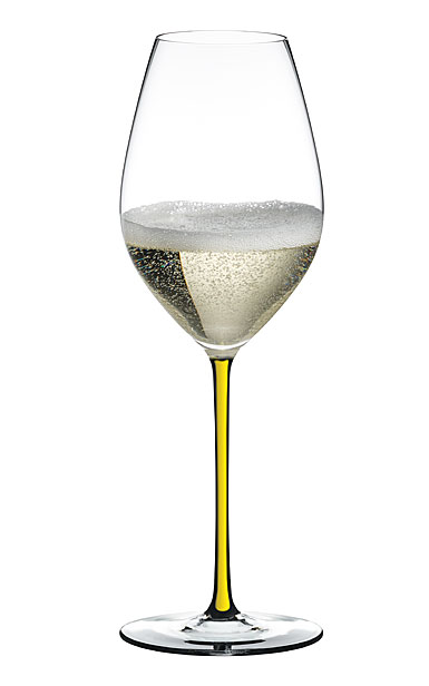 Riedel Fatto A Mano, Champagne Yellow Glass, Single
