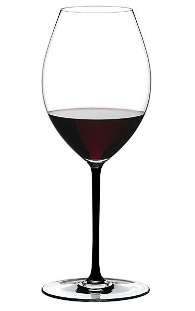 Riedel Fatto A Mano, Old World Syrah Wine Glass, Black