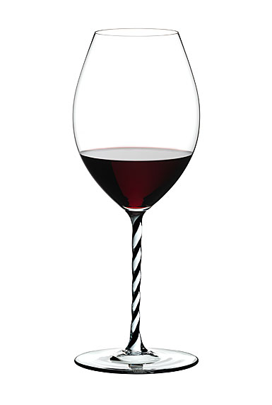 Riedel Fatto A Mano, Old World Syrah, Black and White Twist Crystal Wine Glass
