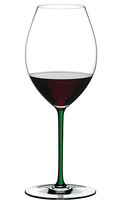 Riedel Fatto A Mano, Old World Syrah Wine Glass, Green