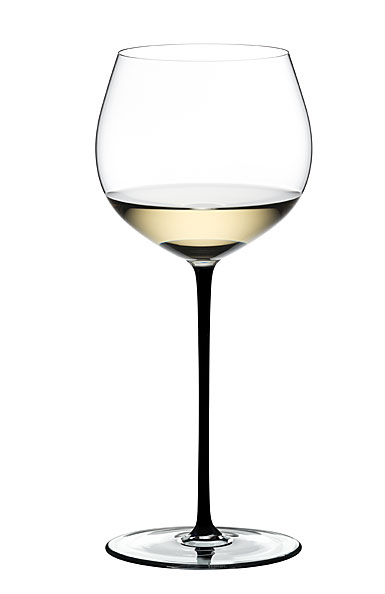 Riedel Fatto A Mano, Oaked Chardonnay Wine Glass, Black
