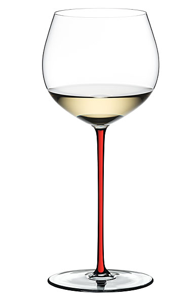 Riedel Fatto A Mano Oaked Chardonnay Glass, Red