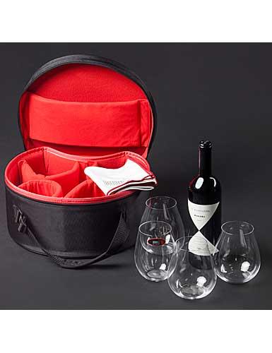 Riedel O Stemless, BYO Bag Syrah Crystal Wine Glasses, Set With 4 Big O Tumblers