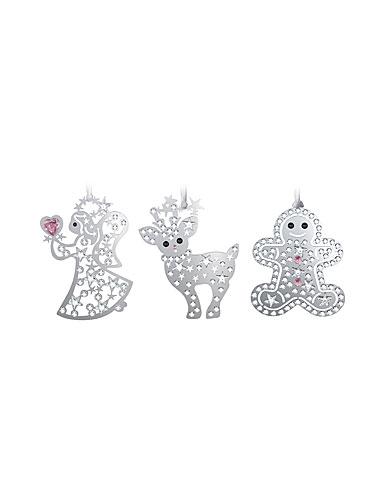 Swarovski Holiday Ornaments, Set of 3, 2013