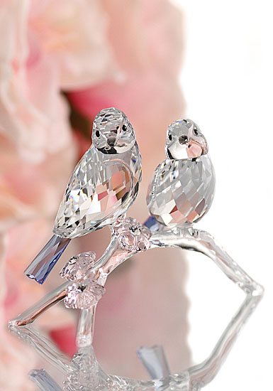 Swarovski Crystal, Blue Chickadees