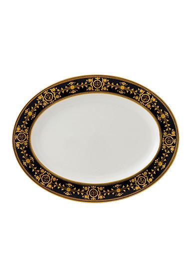"Wedgwood Astbury Black Oval Platter 15.25"""