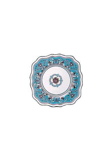"Wedgwood Florentine Turquoise Square Dessert Plate 8"""