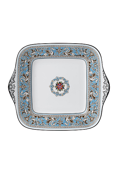 """Wedgwood Florentine Turquoise Bread and Butter Square 10.75"""""""