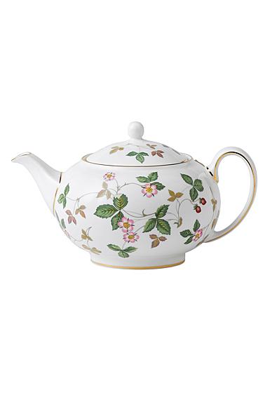 Wedgwood Wild Strawberry Teapot 1.4 Pt, 26.9oz.