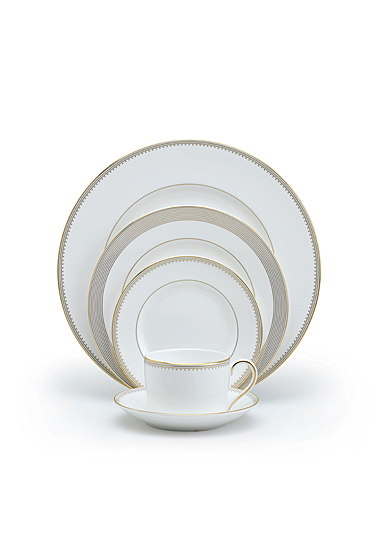 Vera Wang Wedgwood Golden Grosgrain 5 Piece Place Setting