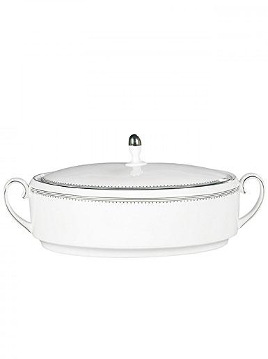 Vera Wang Wedgwood China Grosgrain Covered Vegetable Bowl