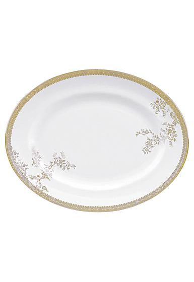 Vera Wang Wedgwood Vera Lace Gold Oval Platter, Single