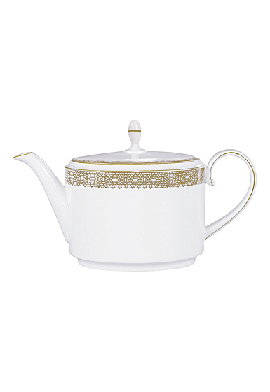 Vera Wang Wedgwood Vera Lace Gold Teapot 1.4 Ltr, 47.3oz.