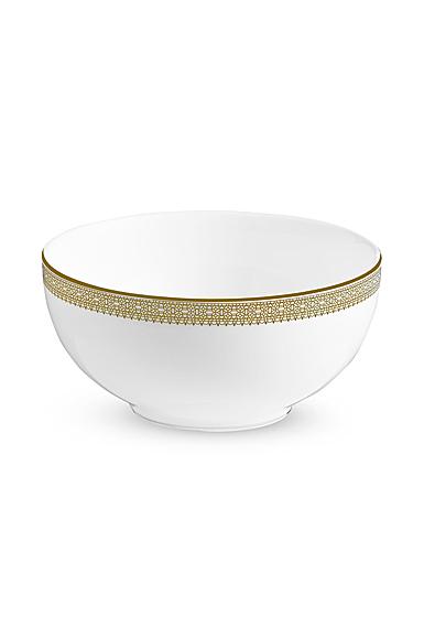"""Vera Wang Wedgwood Vera Lace Gold Soup, Cereal Bowl 6"""""""