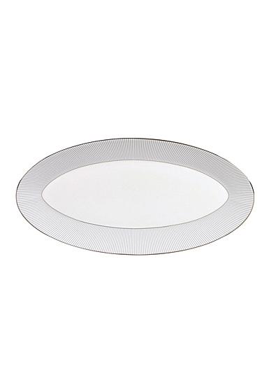"""Wedgwood Jasper Conran Pin Stripe Oval Platter 15.5"""""""