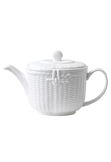 Wedgwood Nantucket Basket Teapot 2.1 Pt, 40.4oz.