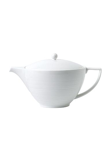 Wedgwood Jasper Conran White Teapot 1.7 Pt, 32.7oz.