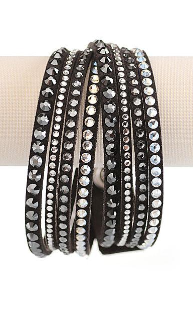 Swarovski Slake Bracelet, Mixed Size Dark